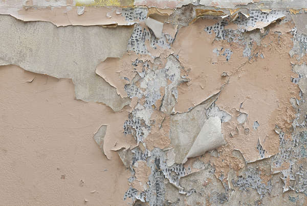 plaster damaged paint dirty weathered
