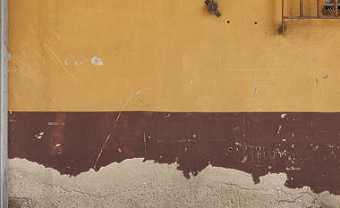 plaster colored strip worn weathered