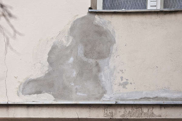 plaster damaged patched