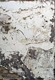 plaster worn white