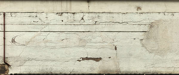 plaster white cracks