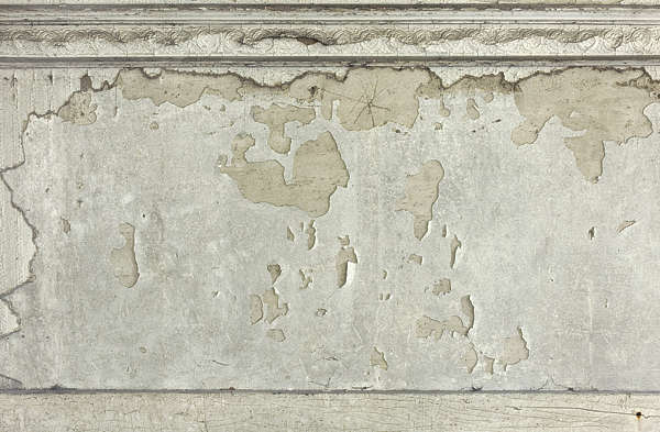 plaster border ornate wall old dirty