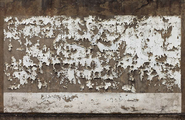 plaster worn old