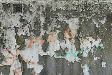 plaster paint worn old
