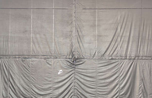 tarp old dirty scaffolding