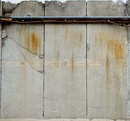 concrete wall barrier dirty