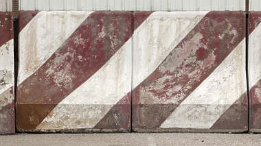 hong kong barrier concrete striped stripes