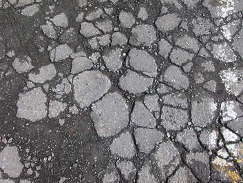 asphalt cracked cracks damaged