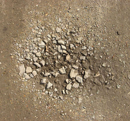 gravel pothole ground sand dirtroad dirt road