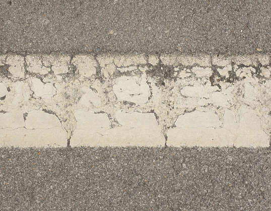 traffic strip line weathered