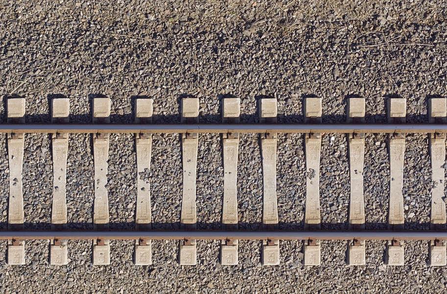 Rails0017 Free Background Texture Aerial Train Tracks