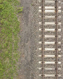 ground terrain rails rail railroad train track tracks