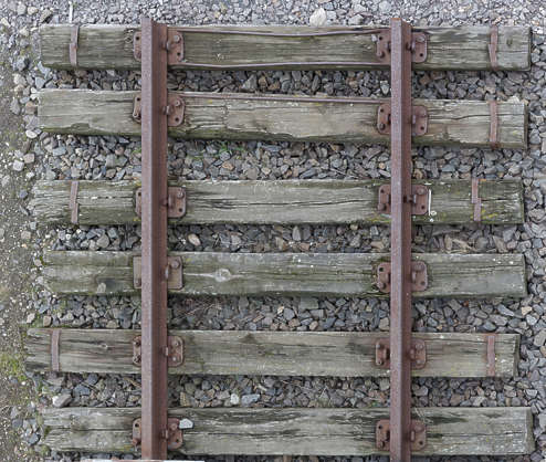 railway rails train railroad