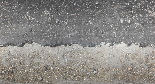 road side edge sand asphalt tarmac