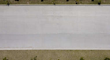 aerial street concrete road slabs plate plates