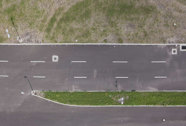 aerial ground terrain road street asphalt tarmac