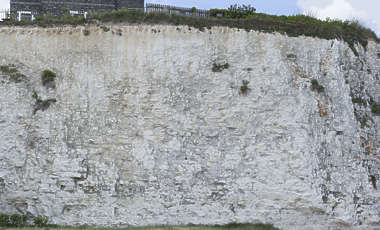 UK rock chalk cliff
