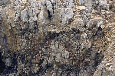 rock cliff jagged rough