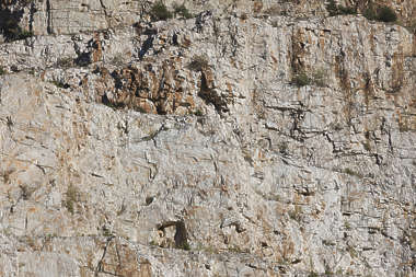 rock cliff layered