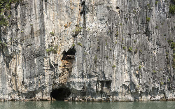 rock cliff ha long vietnam asia asian