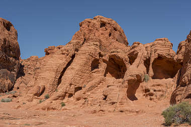 usa desert arid landscape panorama redrock rock small formation