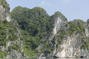 rock mountain ha long vietnam asia asian grassy