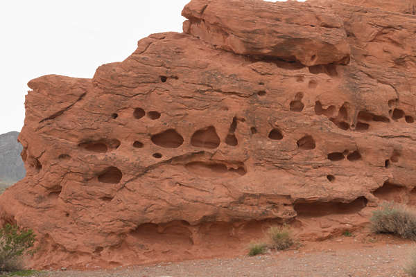 usa desert arid rock redrock perforation perforated cliff