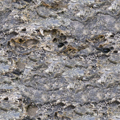 rock rough stone perforated