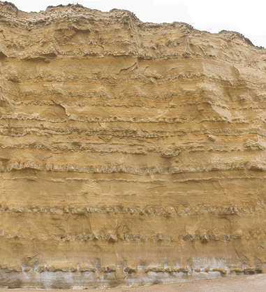 texture rock layers geological cliff UK sediment