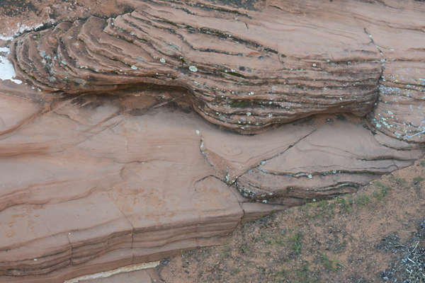usa desert arid layered rock cliff