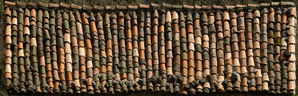 rooftiles roofing ceramic old messy roof