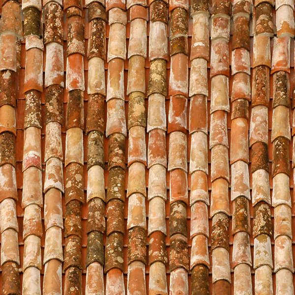 Rooftilesceramicold0044 Free Background Texture Rooftiles Roofing Ceramic Old Roof Brown