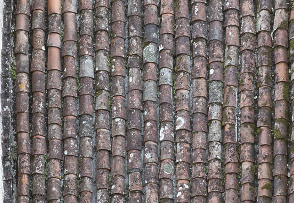 rooftiles roof roofing tiles old ceramic dirty