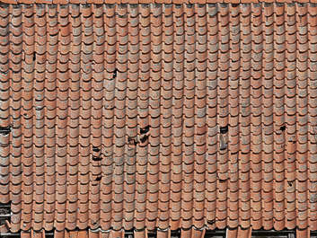 rooftiles ceramic new clean damaged