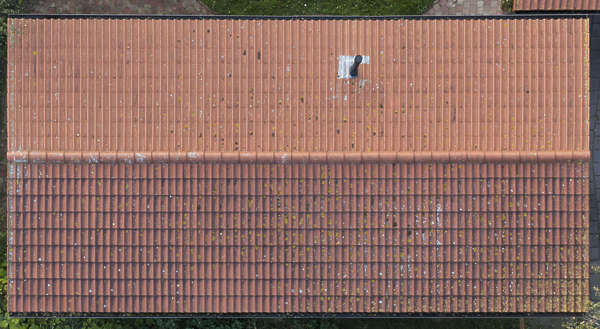 aerial rooftop ceramic rooftiles