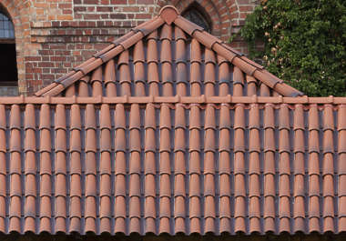 rooftiles ceramic new clean