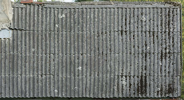 rooftiles ceramic dirty old mossy asbestos