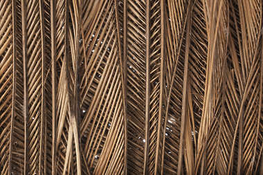 dry wicker bamboo palm roofing