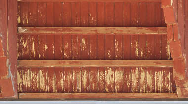 wood planks plank old roofing inside beams painted