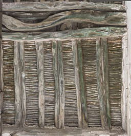 medieval ceiling beam beams twigs morocco wood old roofing inside dirty twig