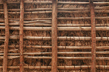 thatched roof roofing reed inside