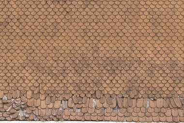 roof rooftiles shingles wood old painted