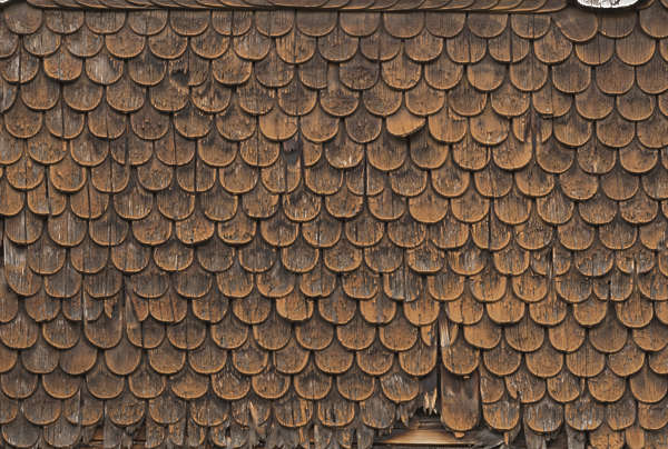 roof rooftiles shingles wood old painted worn
