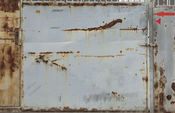 metal plate rusted old