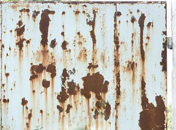 rust rusted paint metal