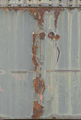 rust rusted painted paint