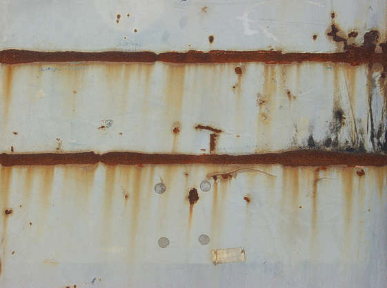 rust leaking seam paint