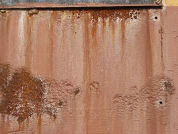 rust leaking paint
