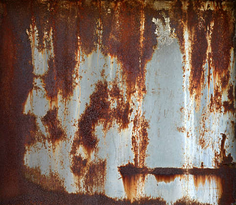 metal rusted rust leaking