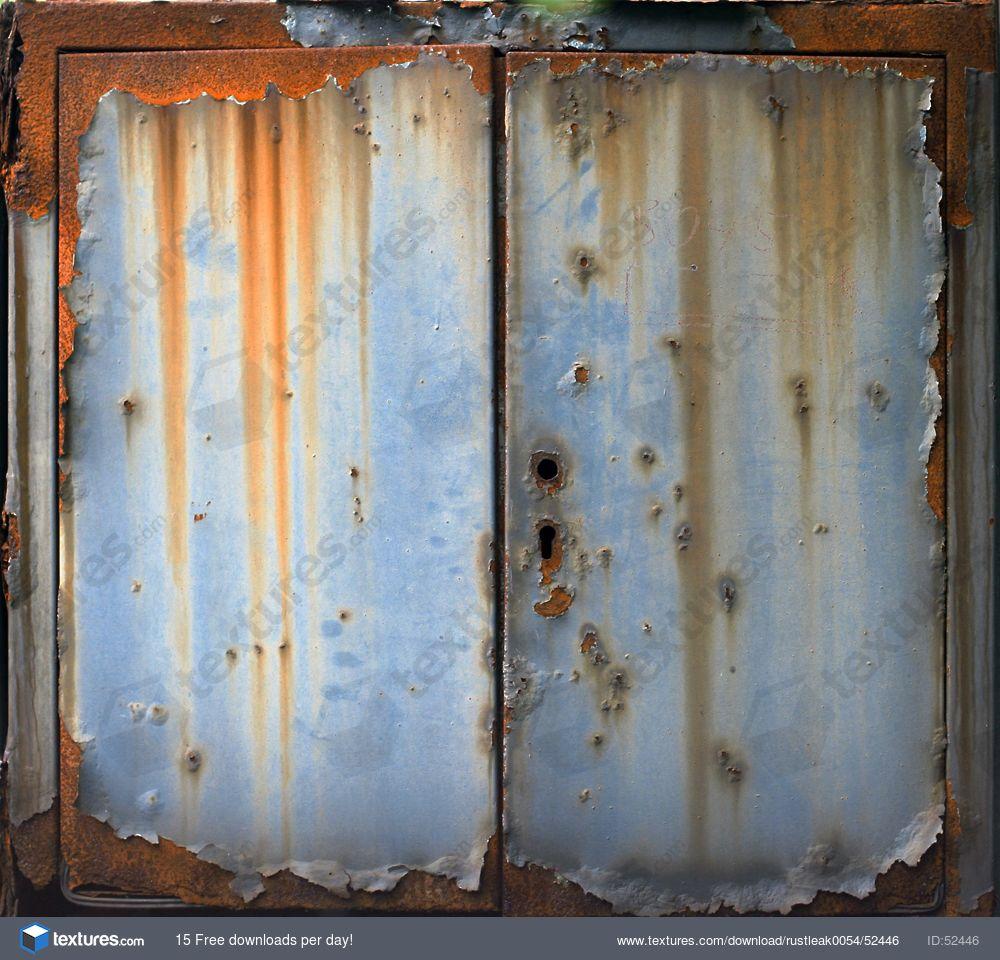 RustLeak0054 - Free Background Texture - fusebox metal leaking rust paint  leak door red orange blue